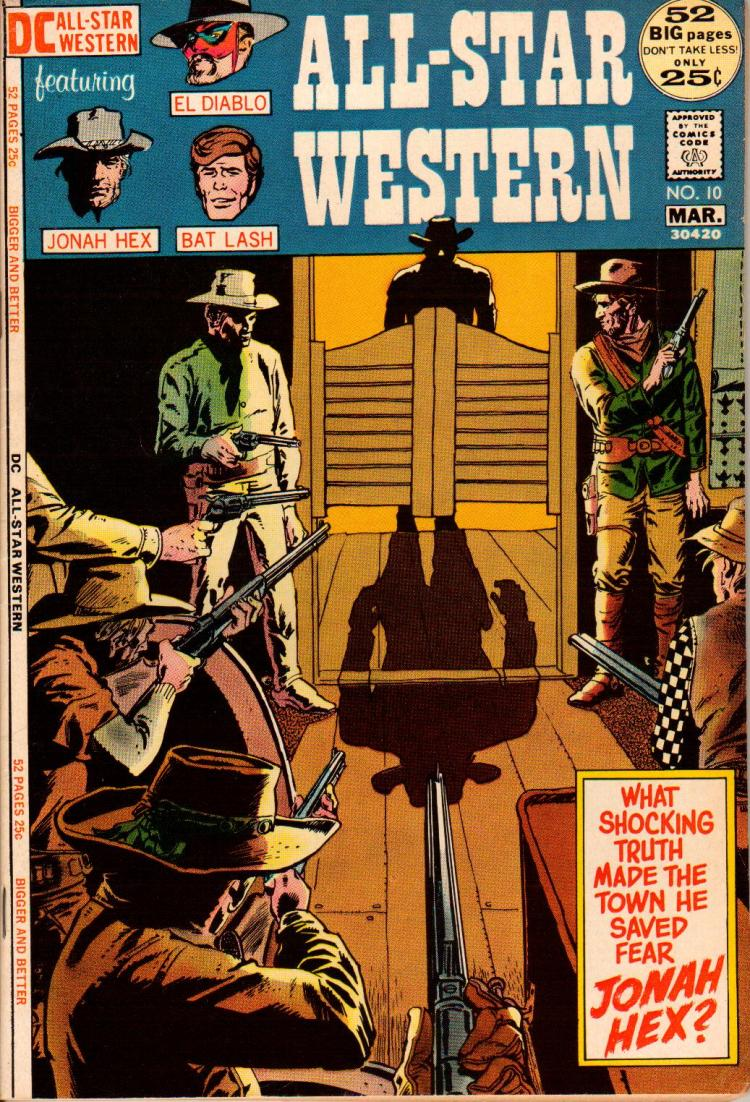 Of the three cowboys in the corner of this cover, only one is a character anyone gives a shit about. And it sure as hell isn't Bat Lash.