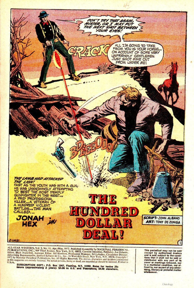 Jonah Hex's story in All-Star #11